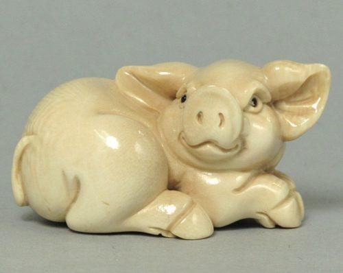 sculpture du signe du cochon