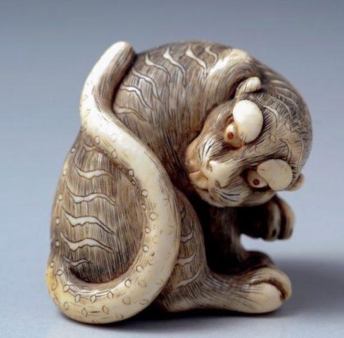 sculpture chinoise signe du tigre
